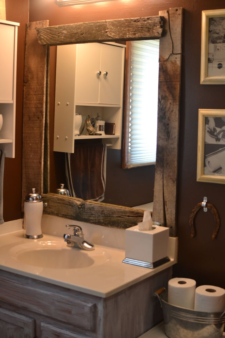 Diy Barn Wood Framed Mirror I D Love To Re Trim And Re