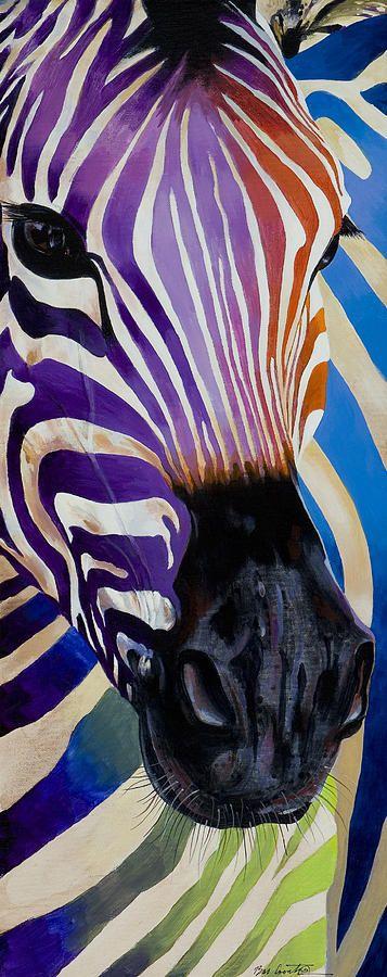 Lady Stripes – acrylic by ©Bob Coonts (via FineArtAmerica)
