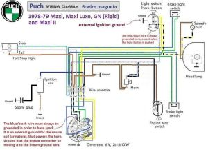 puch moped wiring diagram | Puch Wiring Diagram 197879 6