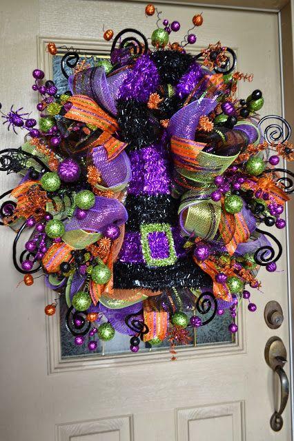 Kristens Creations: Halloween Mesh Wreath