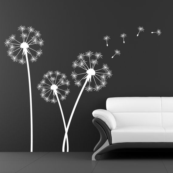 dandelion sticker sticker wall decal home decor on wall stickers id=18717