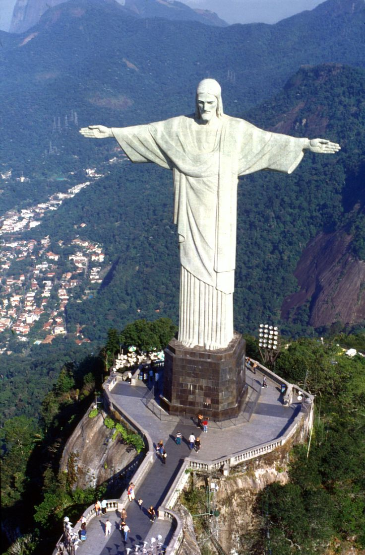 Image result for Statue of Christ the Redeemer in Rio de Janeiro, Brazil