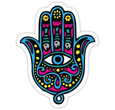 Sticker La Main De Fatma Stickers Chambre Ttes De Lit Free Coloring