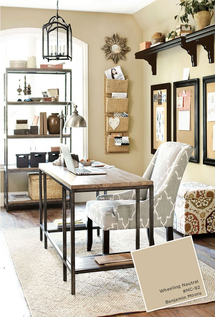 home office with ballard designs furnishings benjamin on commercial office colors for walls id=99598
