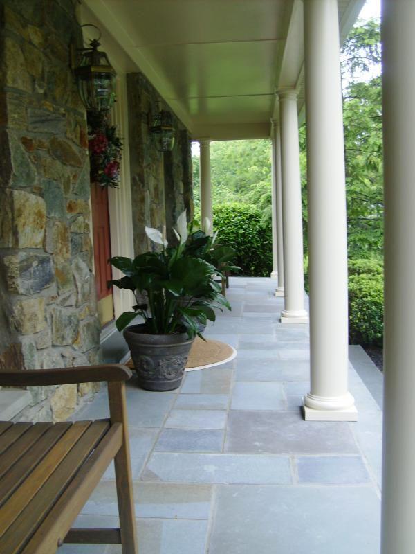 Cut Bluestone Porch Veneered Over Top Old Concrete Porch