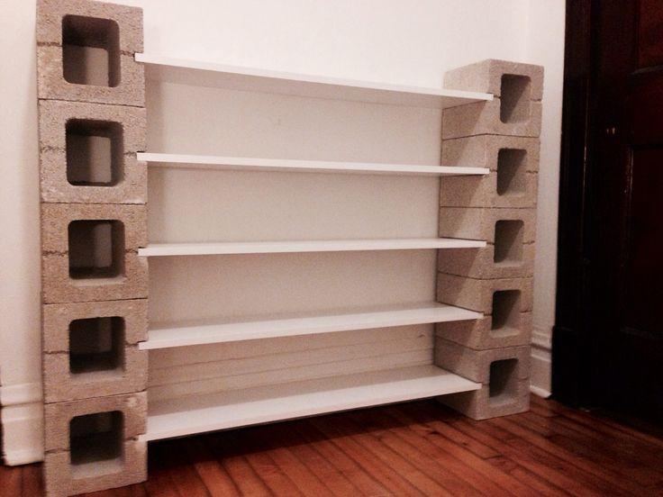 DIY Shelf With Concrete Blocks Displays Pinterest Home Decor Concrete Blocks And Home