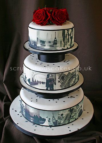 17 Best Images About Wedding Cakes With Edible Images On