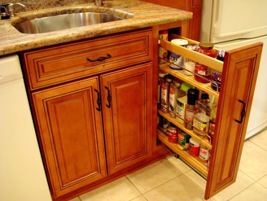 Kitchen Cabinets - 9 Inch Pullout Pantry