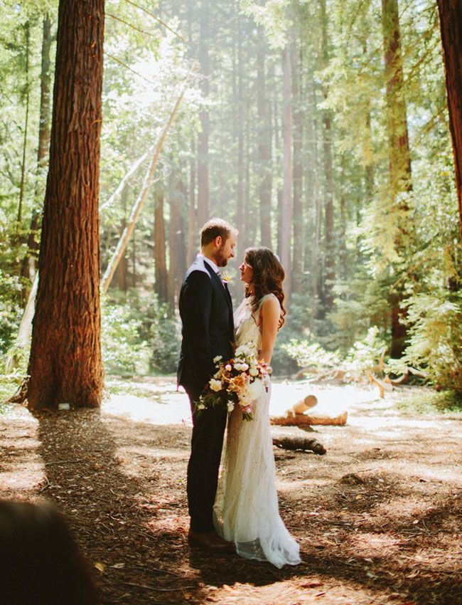 Big Sur wedding with a Jenny Packham dress