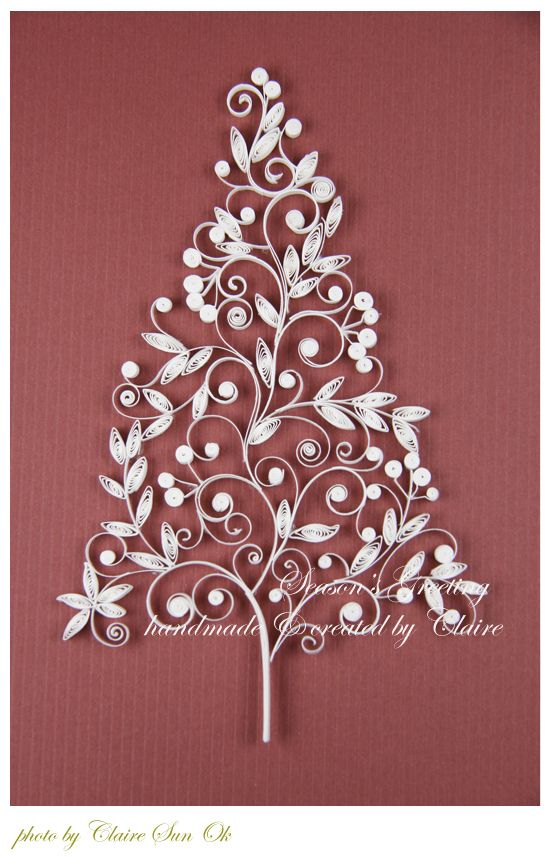 Christmas Tree Amp Bell Card Quilling Trees