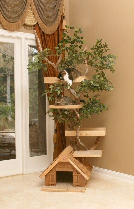 Cat tree house- so cool!