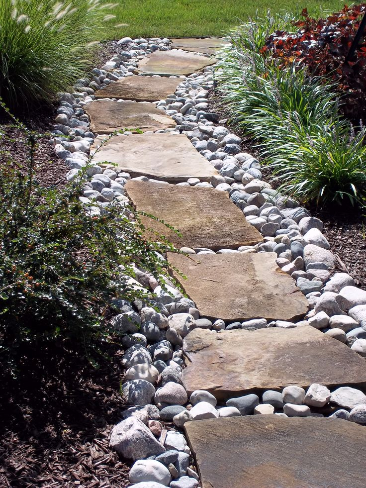 flagstone set in river stone garden walkway pinterest on magnificent garden walkways ideas for unique outdoor setting id=76833
