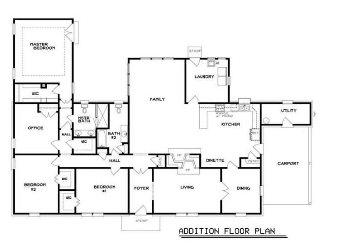 3 Bedroom Addition Floor Plans Google Search