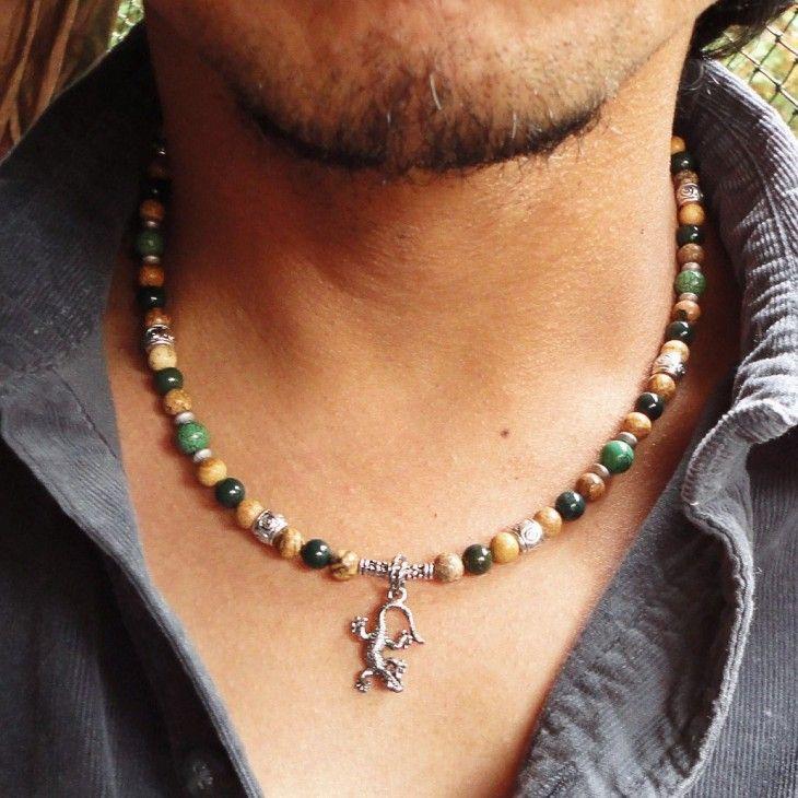 Mens Beaded Necklaces Mens Necklaces Pinterest