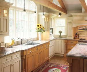 Kitchen Ideas Mixed Cabinets With Oak And Painted Cabinets