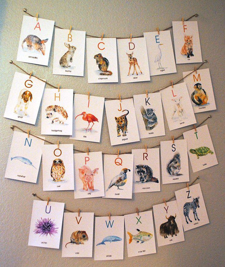 Animal alphabet flash cards 4 x 6 english alphabet