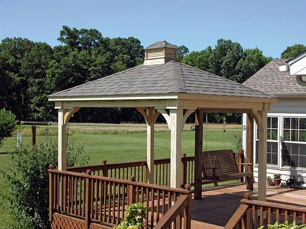 8x10 Wooden Gazebo Sheds By Taylor Structures Wood