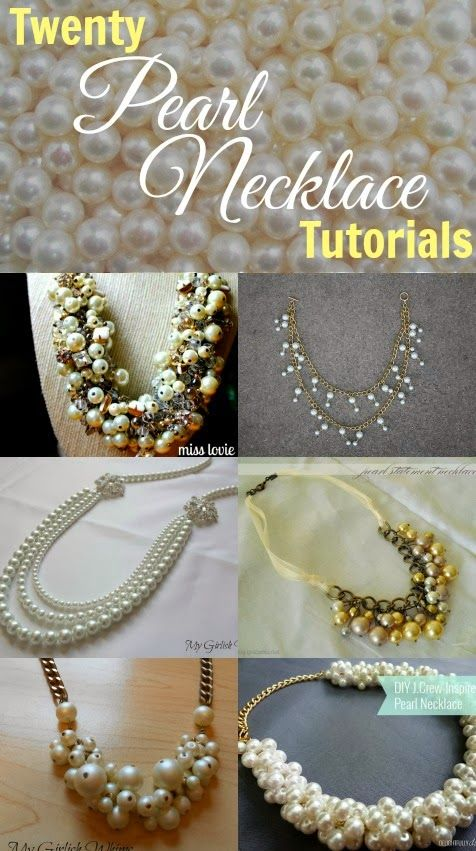 Twenty DIY Pearl Necklace Tutorials. These aint yo grandmas pearl necklaces!
