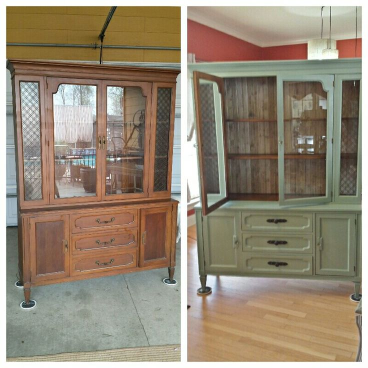 Redone China Hutch With Amy Howard Chalk Paint Rescue