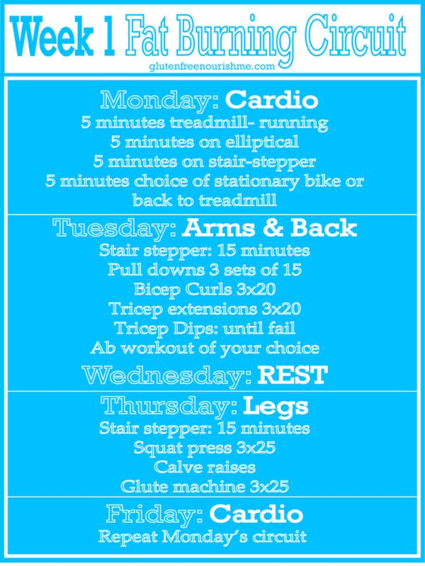 Beginners Fat Burning Workout Curcuit: Week 1   Fat ...