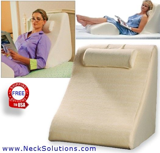 Foam Wedge Pillow Elevating Leg Rest Flow Back Pain Muscle Tension