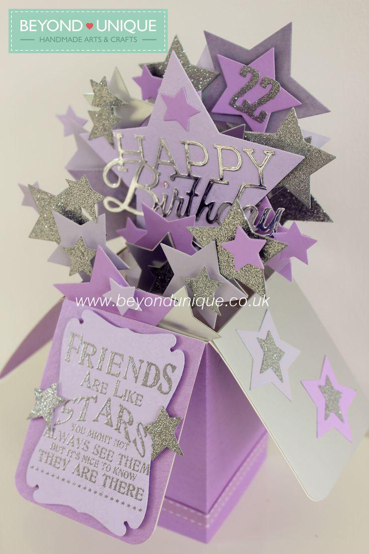 Handmade Pop Up Box Birthday Card Stars Design Httpswww