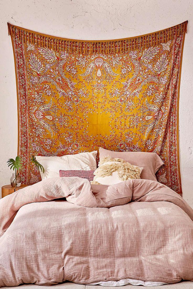 25 Best Ideas About Tapestry Headboard On Pinterest Diy