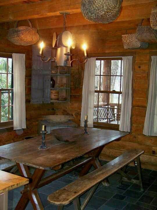 FARMHOUSE INTERIOR Vintage Early American Farmhouse Showcases Raised Panel Walls Barn Wood