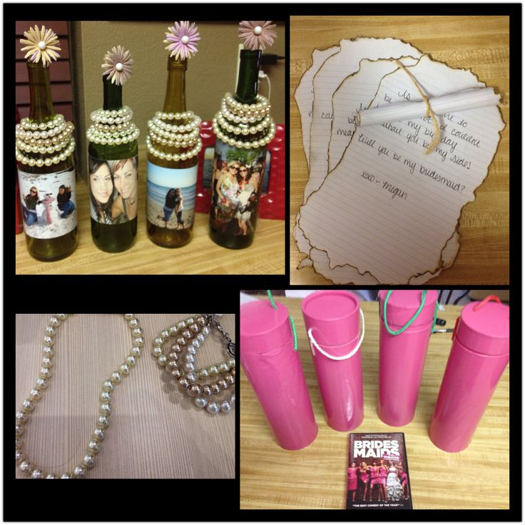 Bridesmaid gifts diy message in a bottle diy pinterest