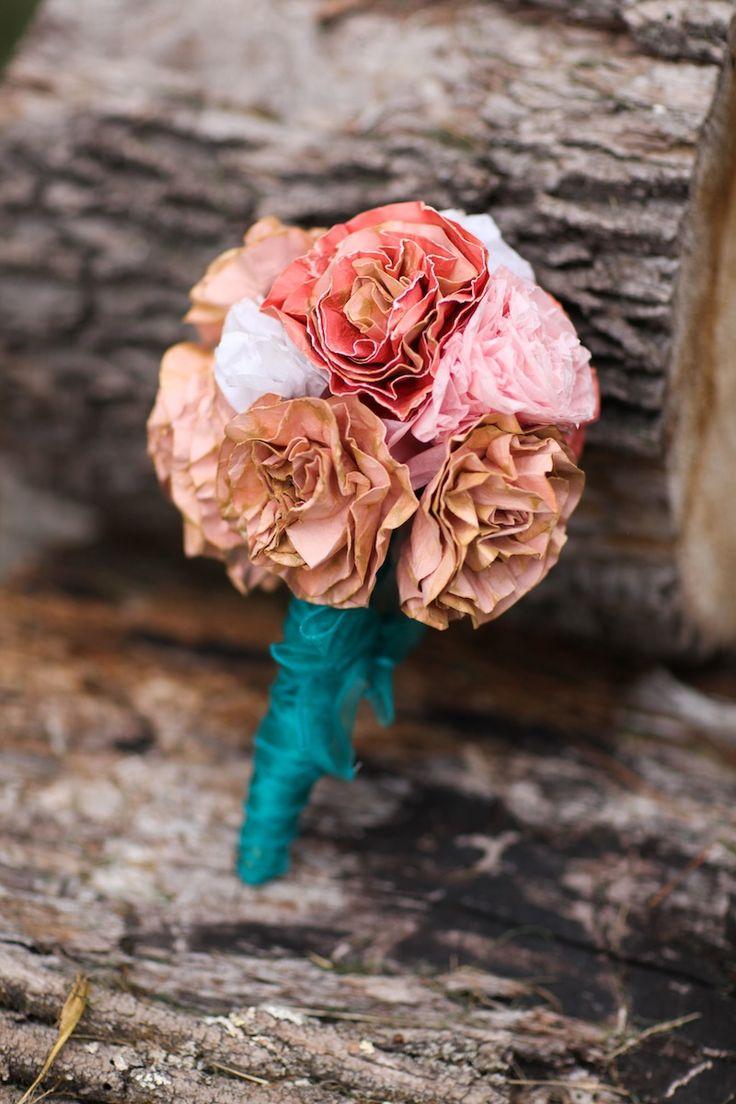 Diy How To Make A Dried Paper Flower Wedding Bouquet Washington Dc Weddings Maryand Weddings