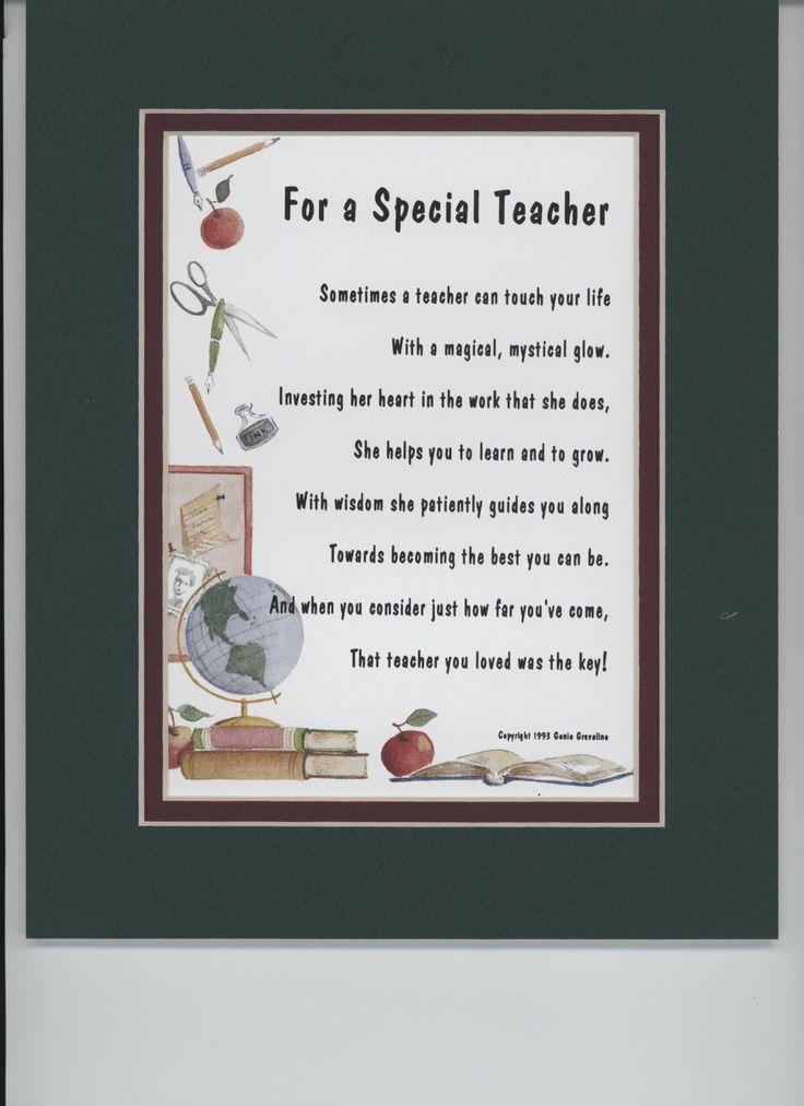 Poem For Teacher Amazon Awesome Teacher Gift Ideas
