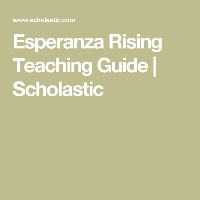 Esperanza Rising Bio Poem Poemview