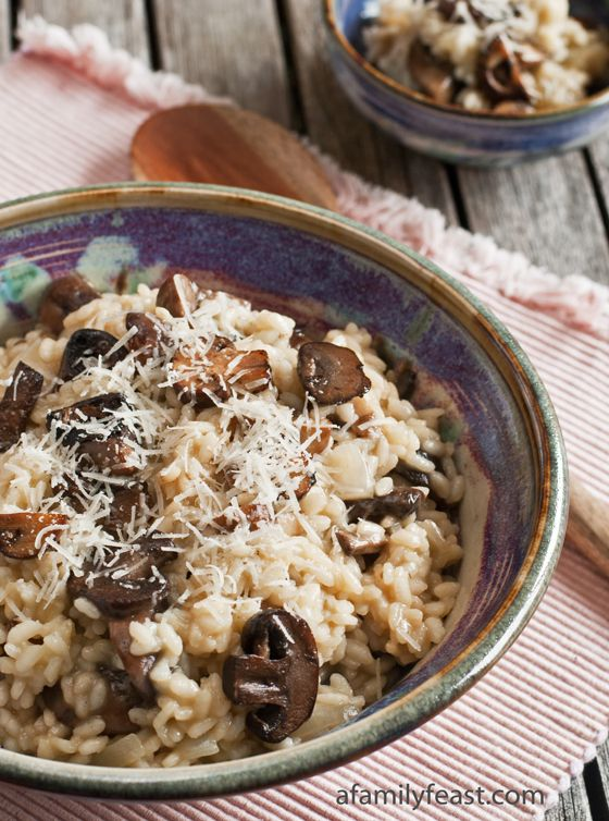Mushroom Risotto – My husband always tells the story that he knew he wanted to marry me after tasting my delicious mushroom