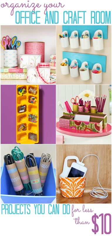 Office and Craft Space Organization Projects (that you can do for less than $10!) – All Cheap Crafts