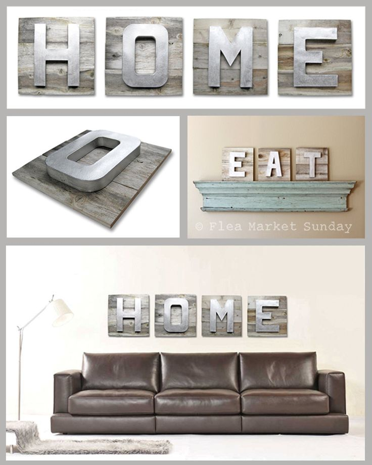 Large HOME Sign on Reclaimed Wood D