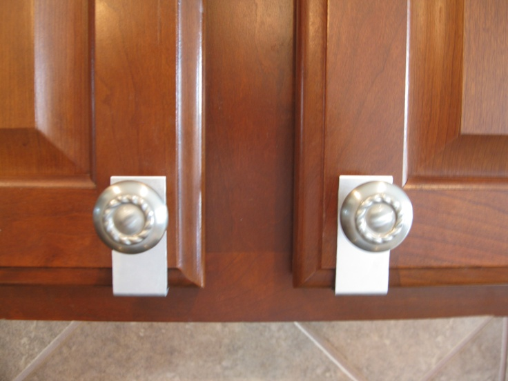 don t want to drill to install cabinet knobs no problem you can put these on in seconds try on kitchen cabinets no handles id=35934