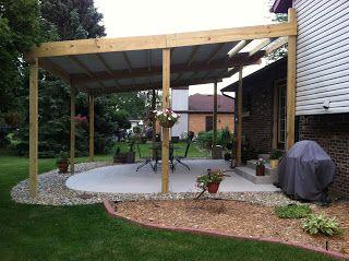 Cheap DIY Patio Cover Ideas and Plans - http://reshefmann ... on Diy Backyard Patio Cheap  id=68241
