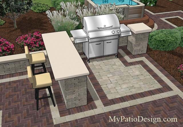 Great grill station idea for slide-in grills with side ... on Patio Grill Station  id=44259