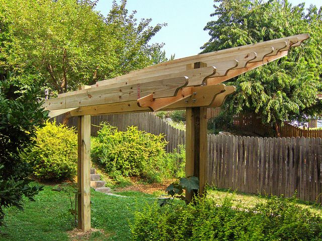 Cantilevered Pergola Step 5 Rear Flickr Photo Sharing