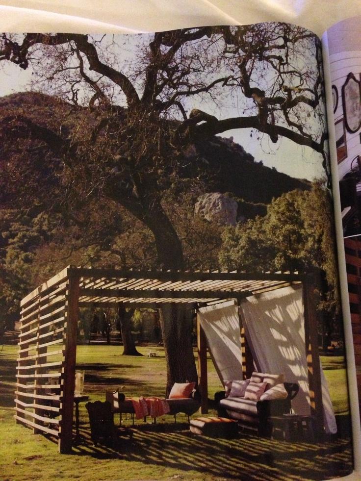 Backyard DIY Cabana Outdoor Oasis Pinterest