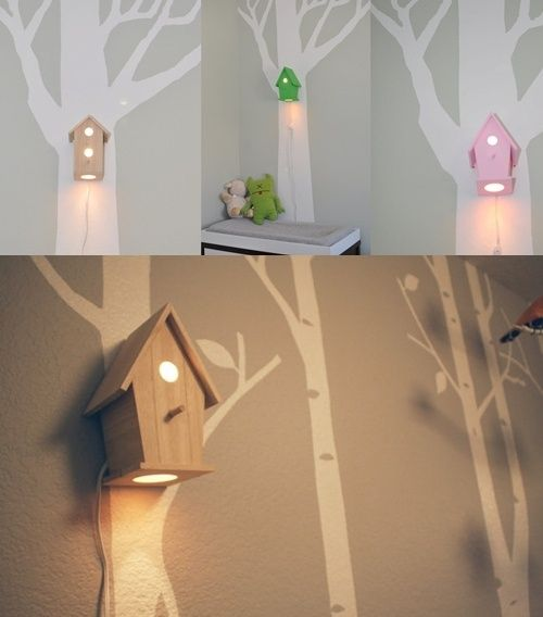 Wonderful Night Lights For A Woodland Themed Room
