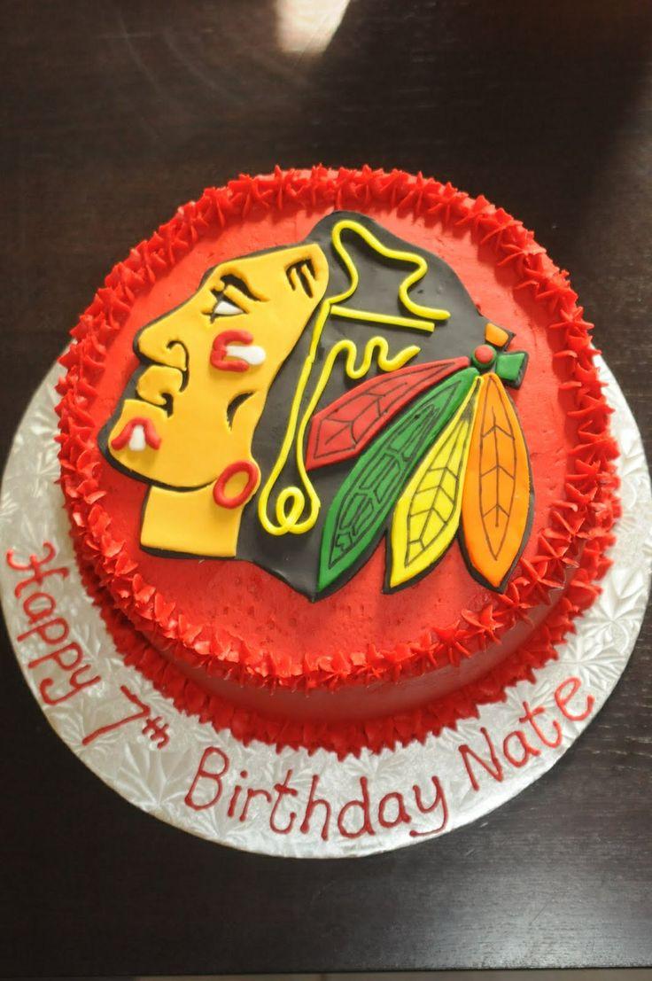 Chicago Blackhawks Cake By Www Notyouraveragecookiecanada