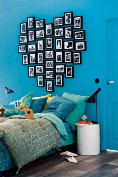 Decorar con marcos en el dormitorio juvenil