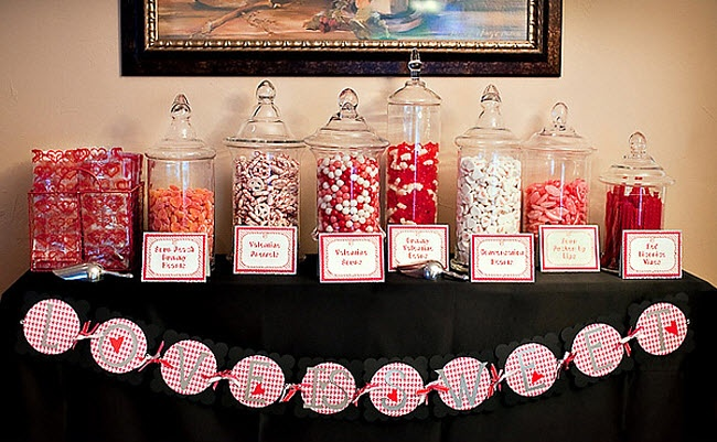 """Engagement Party Idea...""""Love Is Sweet"""" Candy Bar"""