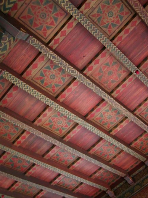 Stenciled Beam And Panel Ceiling Beautiful Walls By Doug