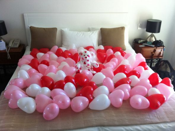 When the most romantic night of the year ends, my husband would be surprised to see the festive balloons covering the bed! A final