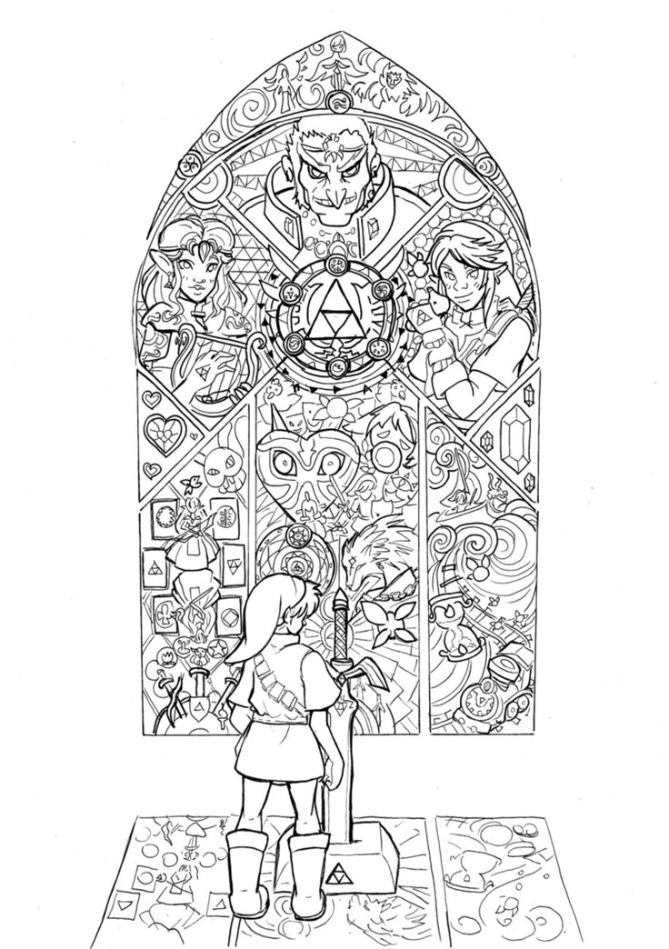 74 best images about legend of zelda coloring pages on