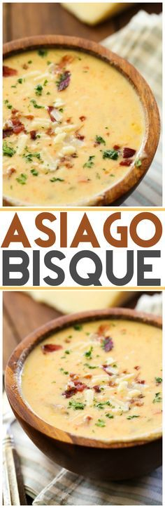 Asiago Bisque. If youre looking for something to keep your meals company, the