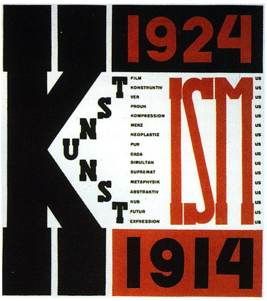 El Lissitsky, book cover for the Isms of Art: 1914-1924.