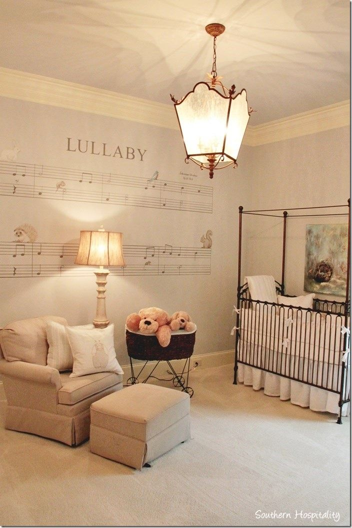 Love the music sheet on the wall great idea for the boys room Just not a lullaby maybe one of their favorite